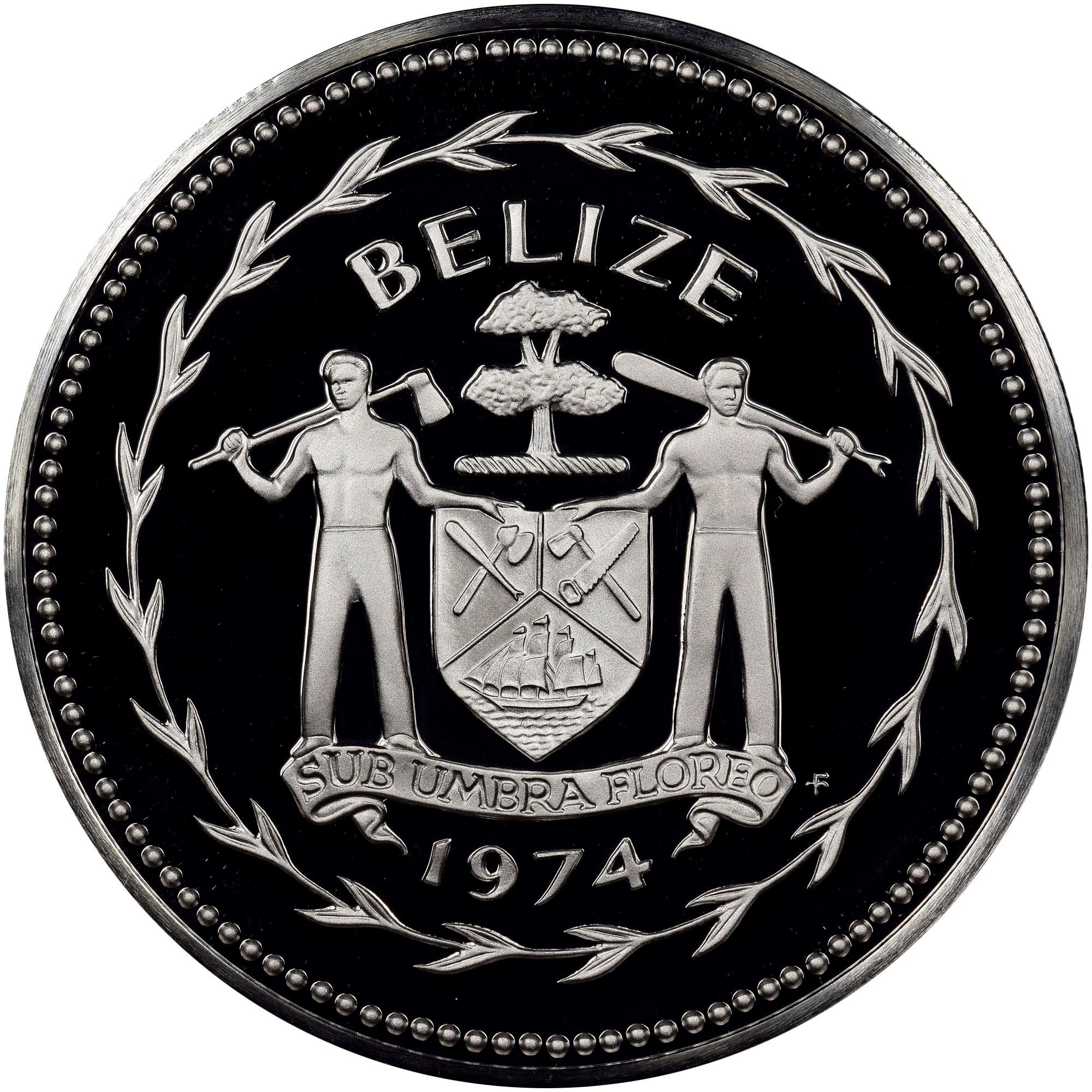Belize 5 Dollars obverse