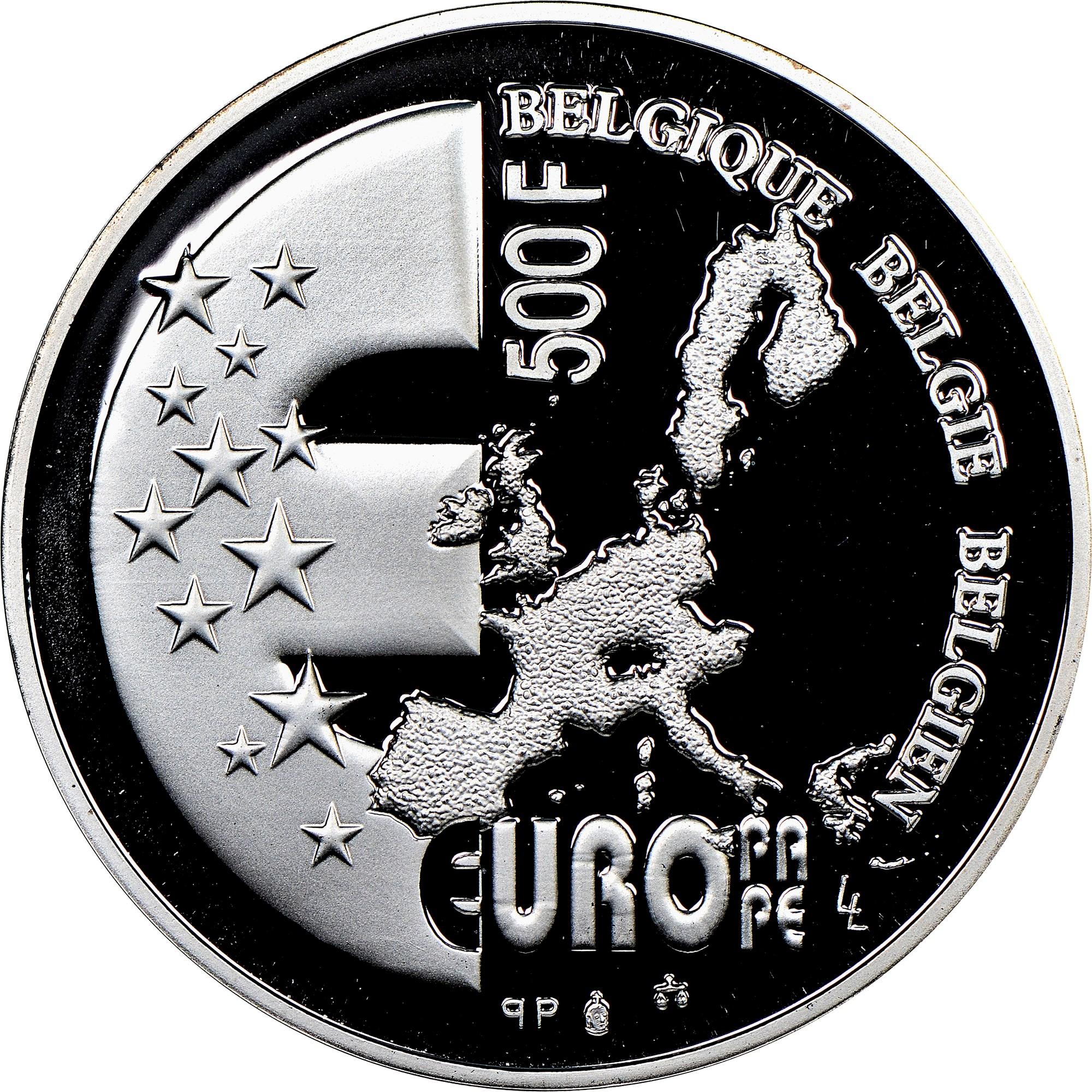Belgium 500 Francs obverse