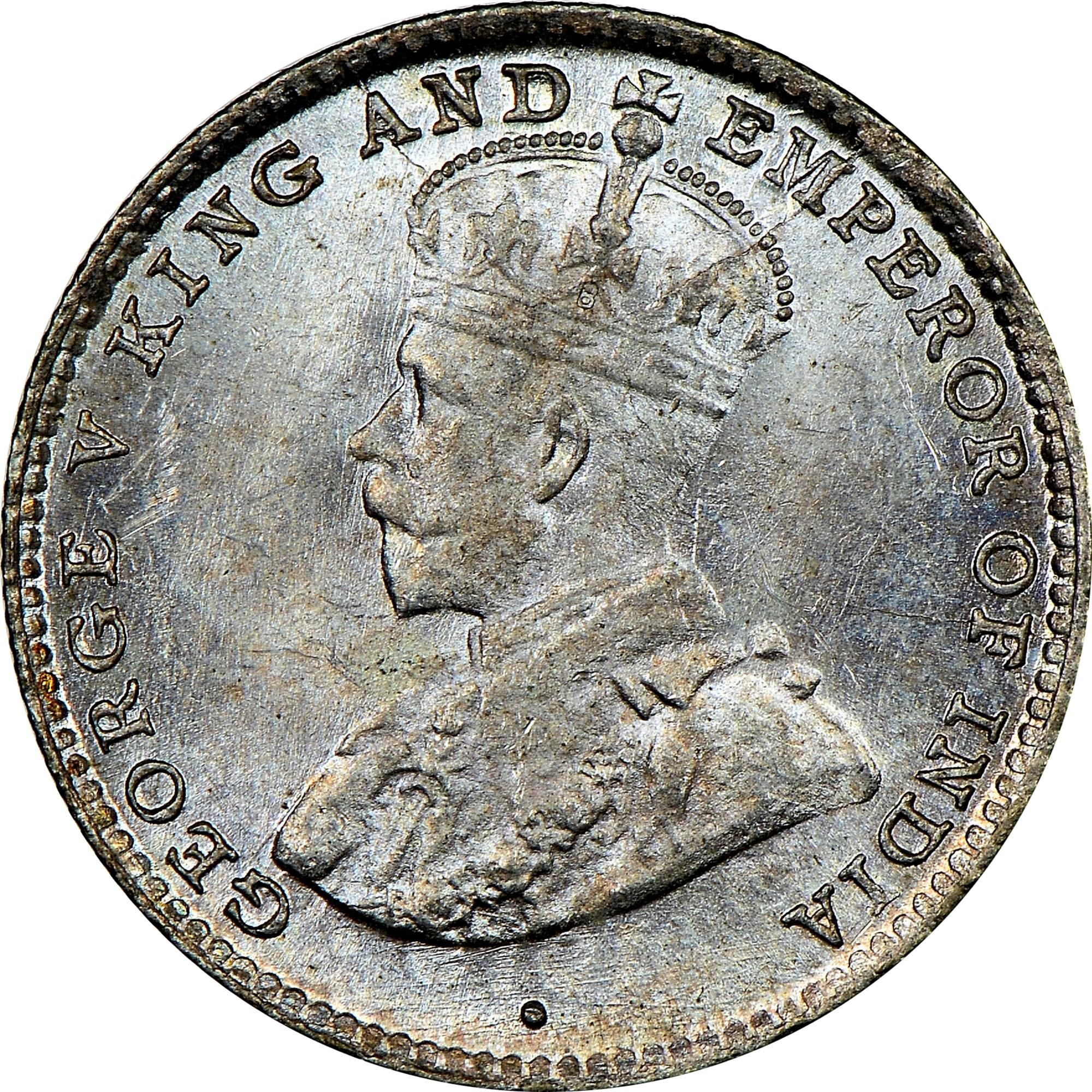 Ceylon 10 Cents obverse