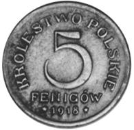 Poland 5 Fenigów obverse
