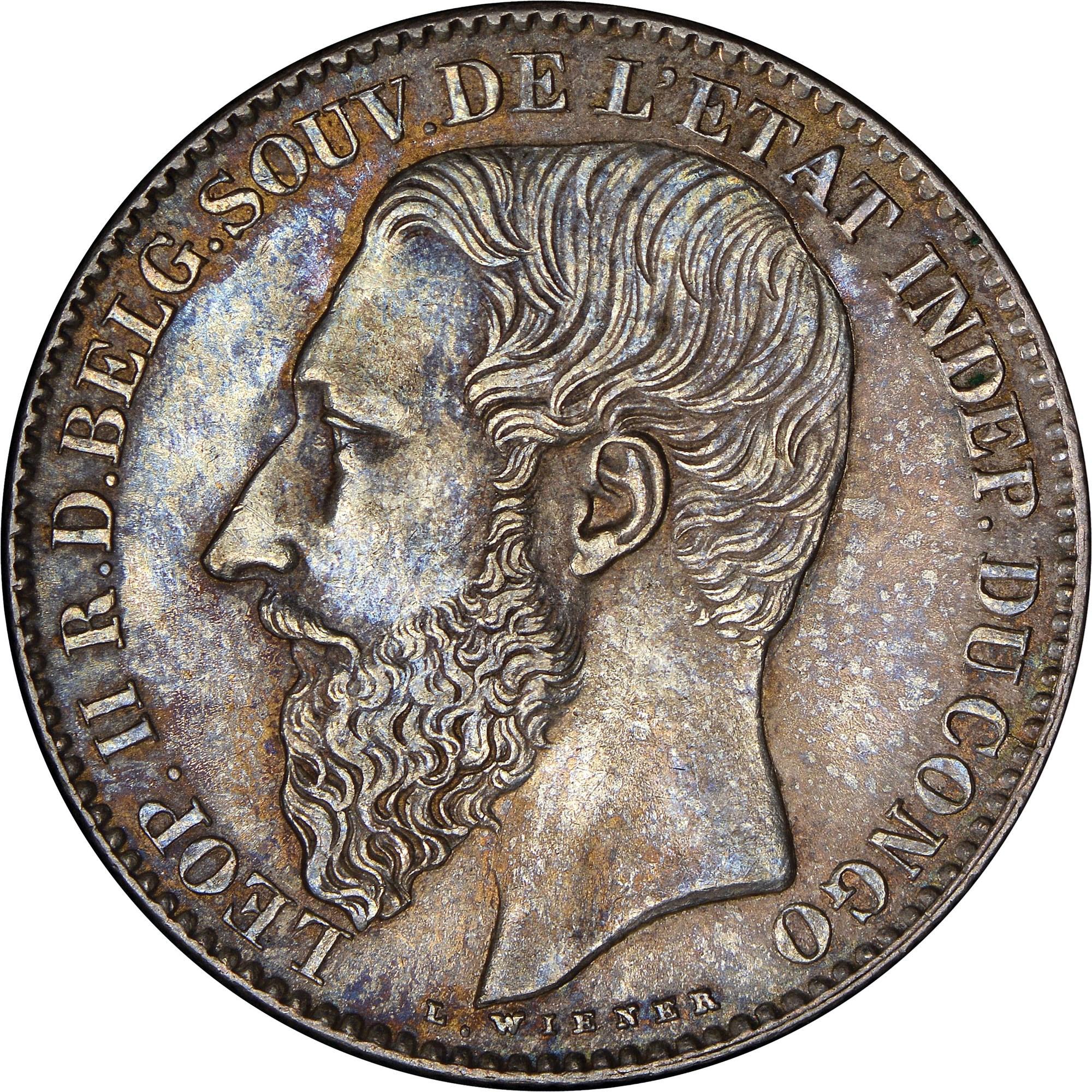 Congo Free State 2 Francs obverse