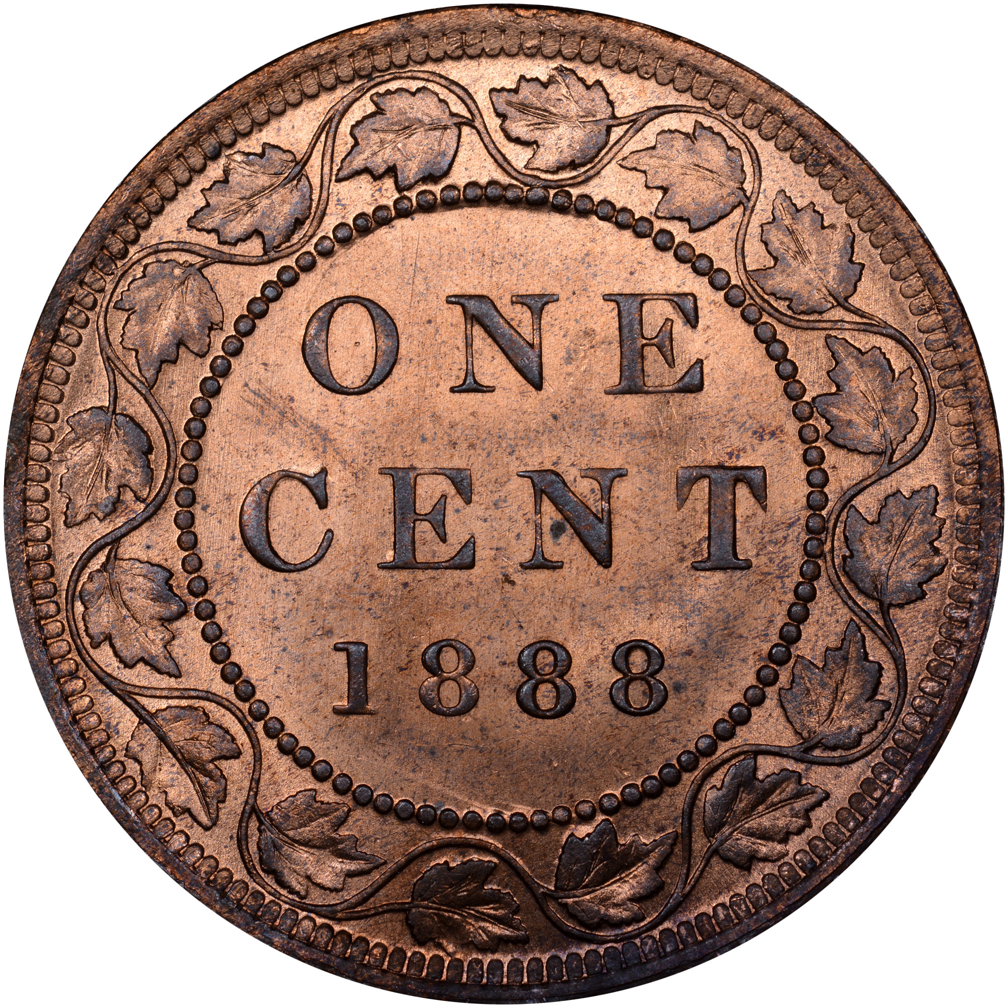 1876-1901 Canada Cent reverse