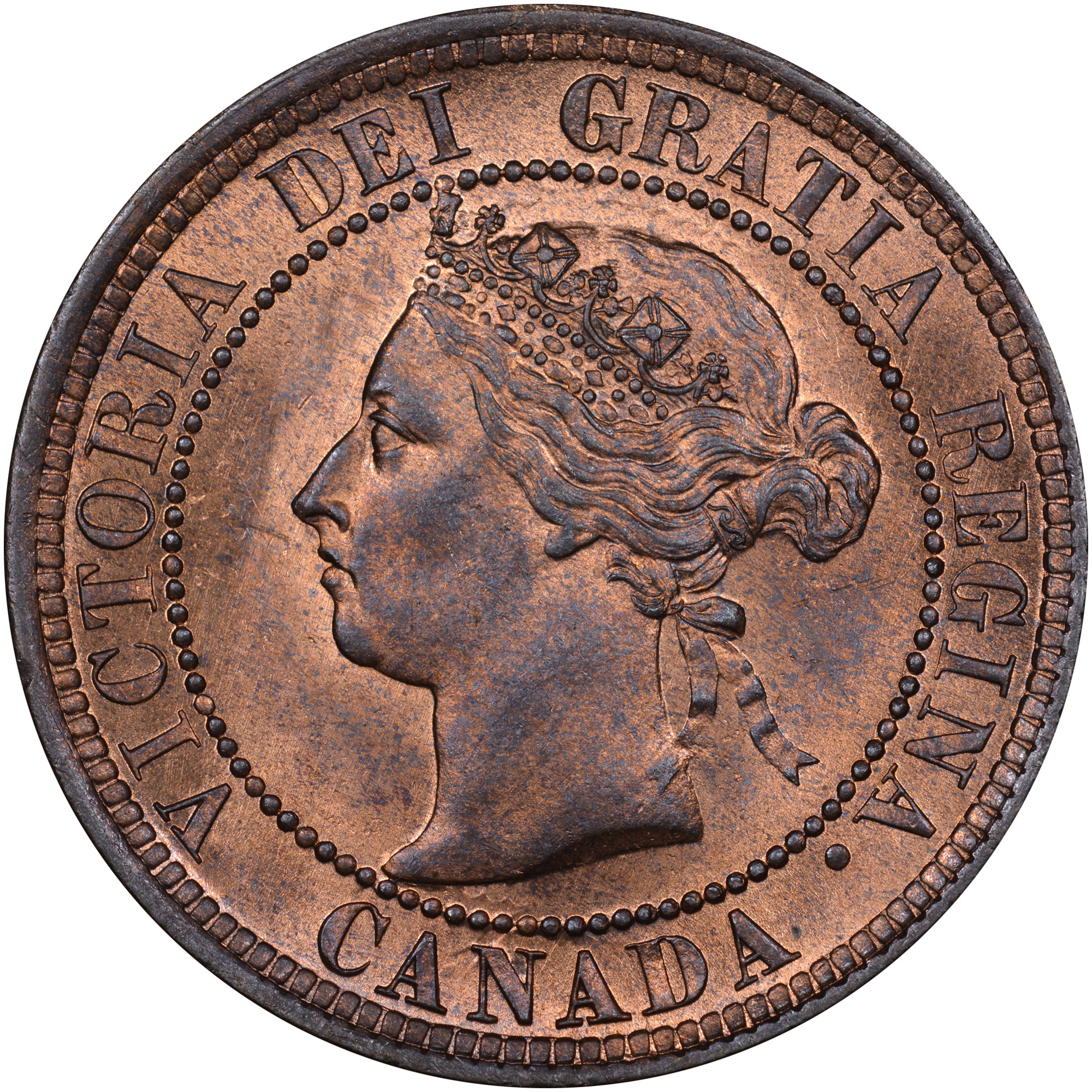 1876-1901 Canada Cent obverse