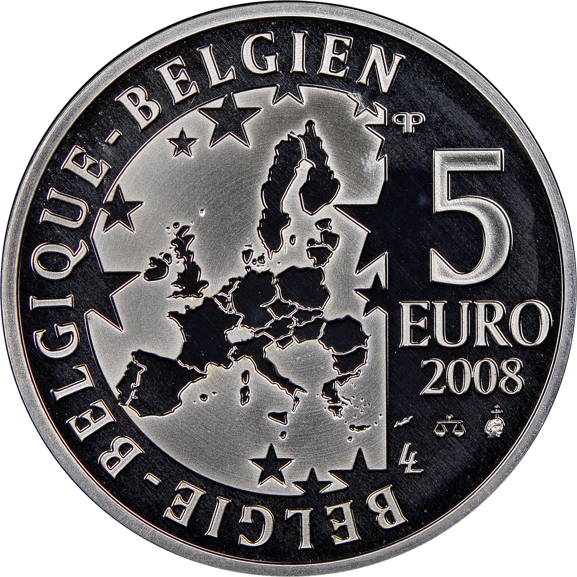 Belgium 5 Euro obverse