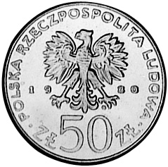 Poland 50 Złotych obverse