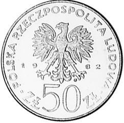 Poland 50 ZÅ'otych obverse