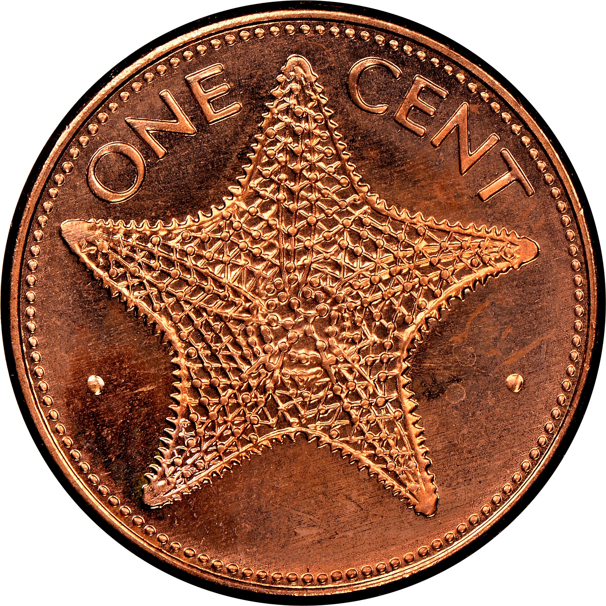 Bahamas Cent reverse