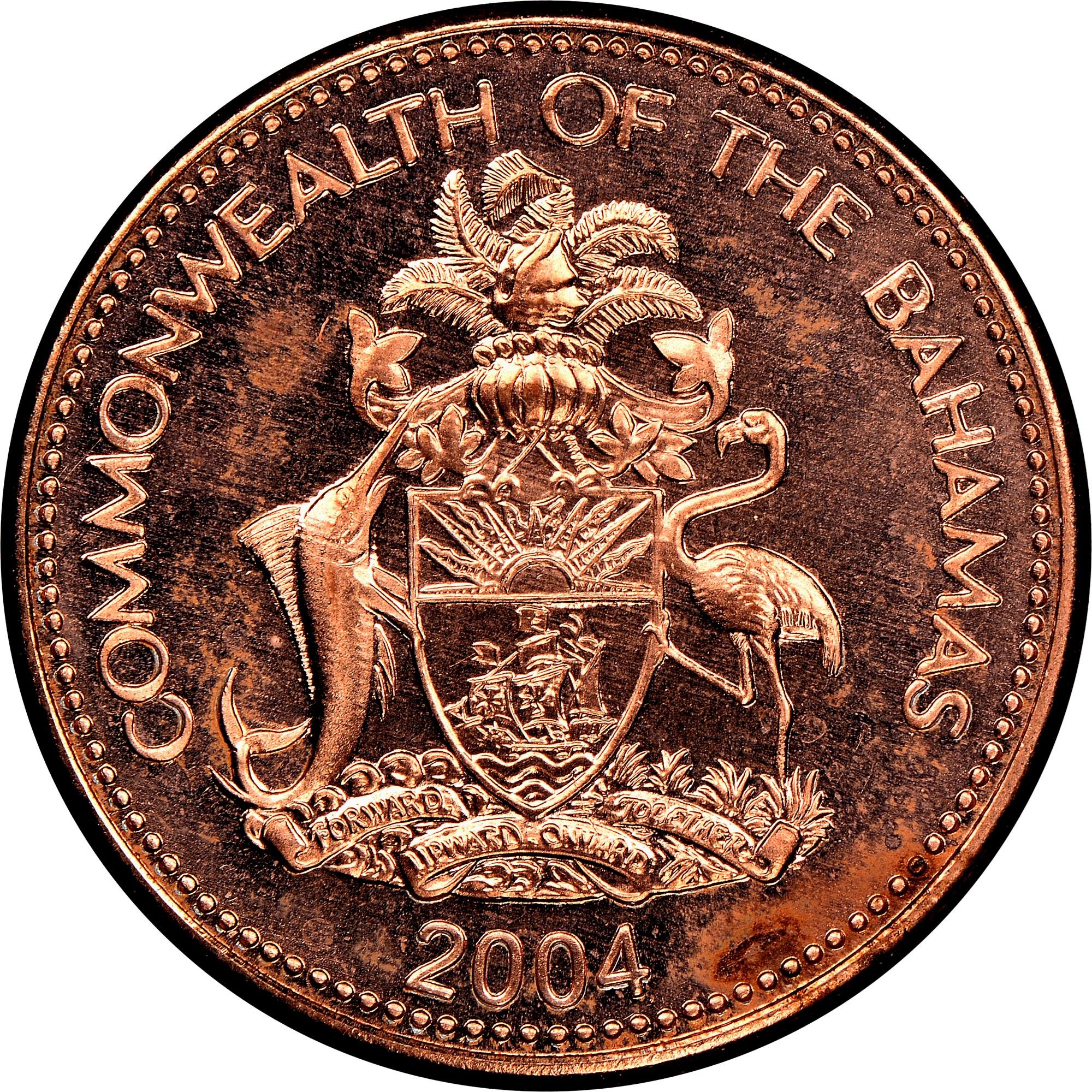 Bahamas Cent obverse