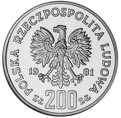Poland 200 ZÅ'otych obverse