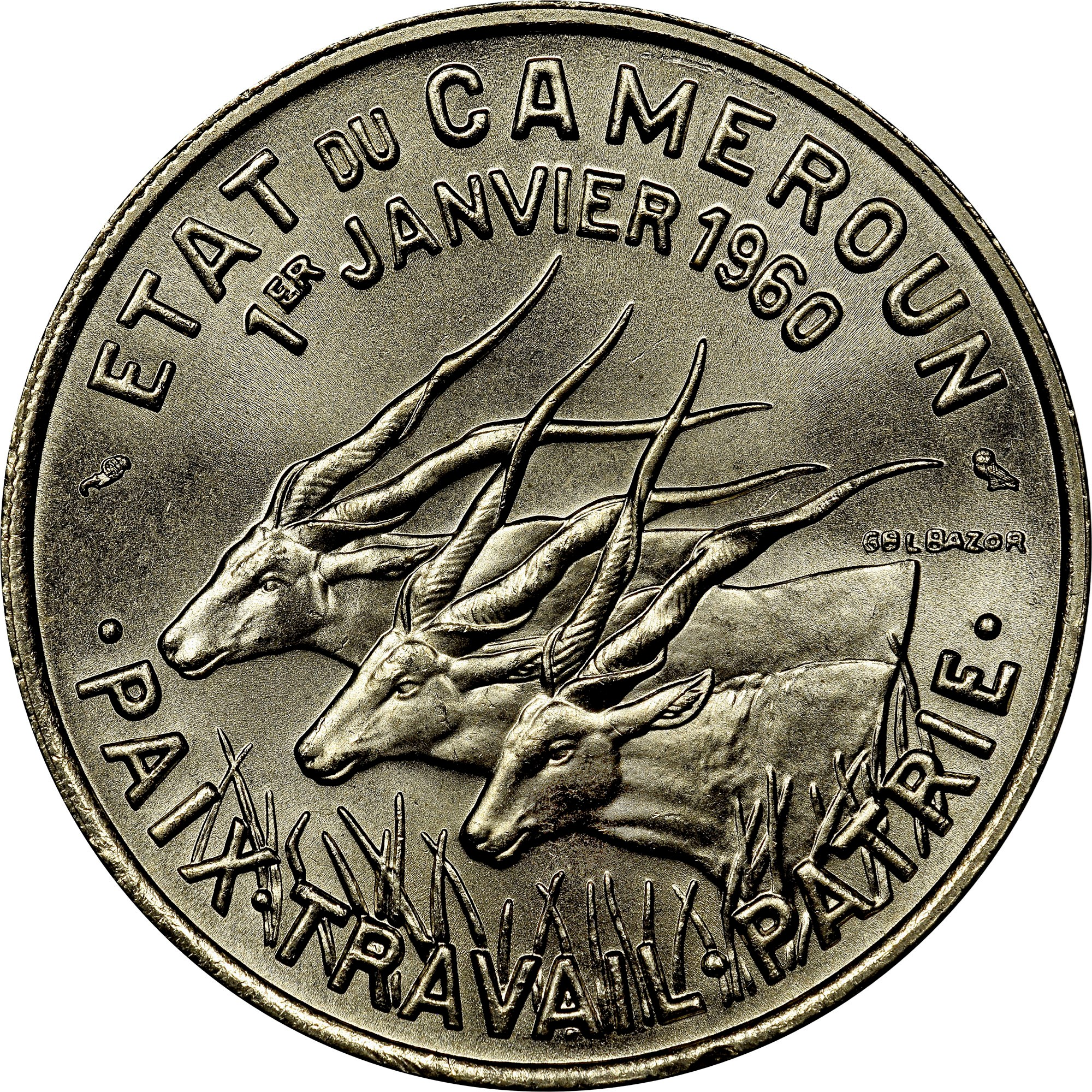 Cameroon 50 Francs obverse