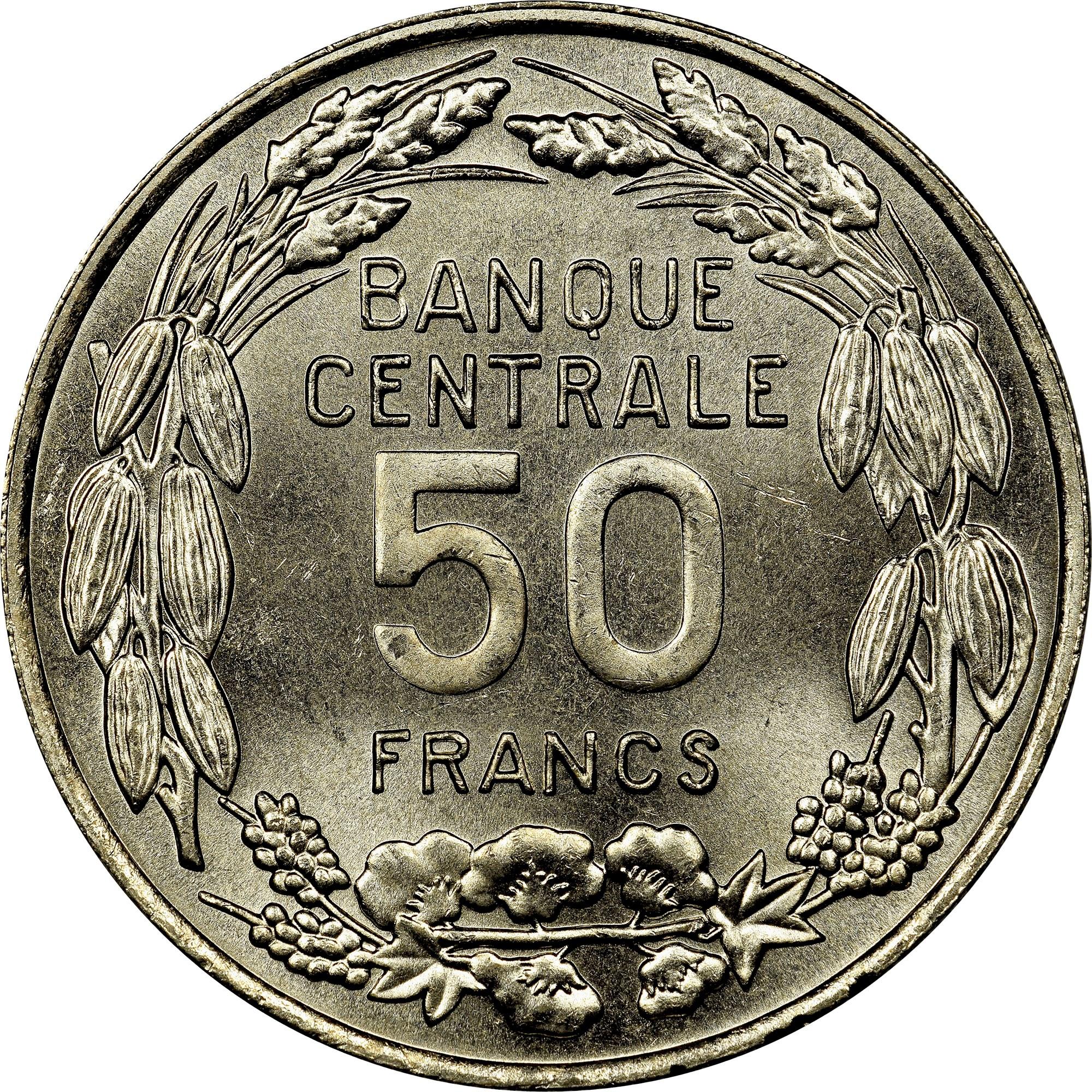 Cameroon 50 Francs reverse