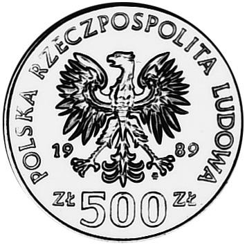 Poland 500 Złotych obverse