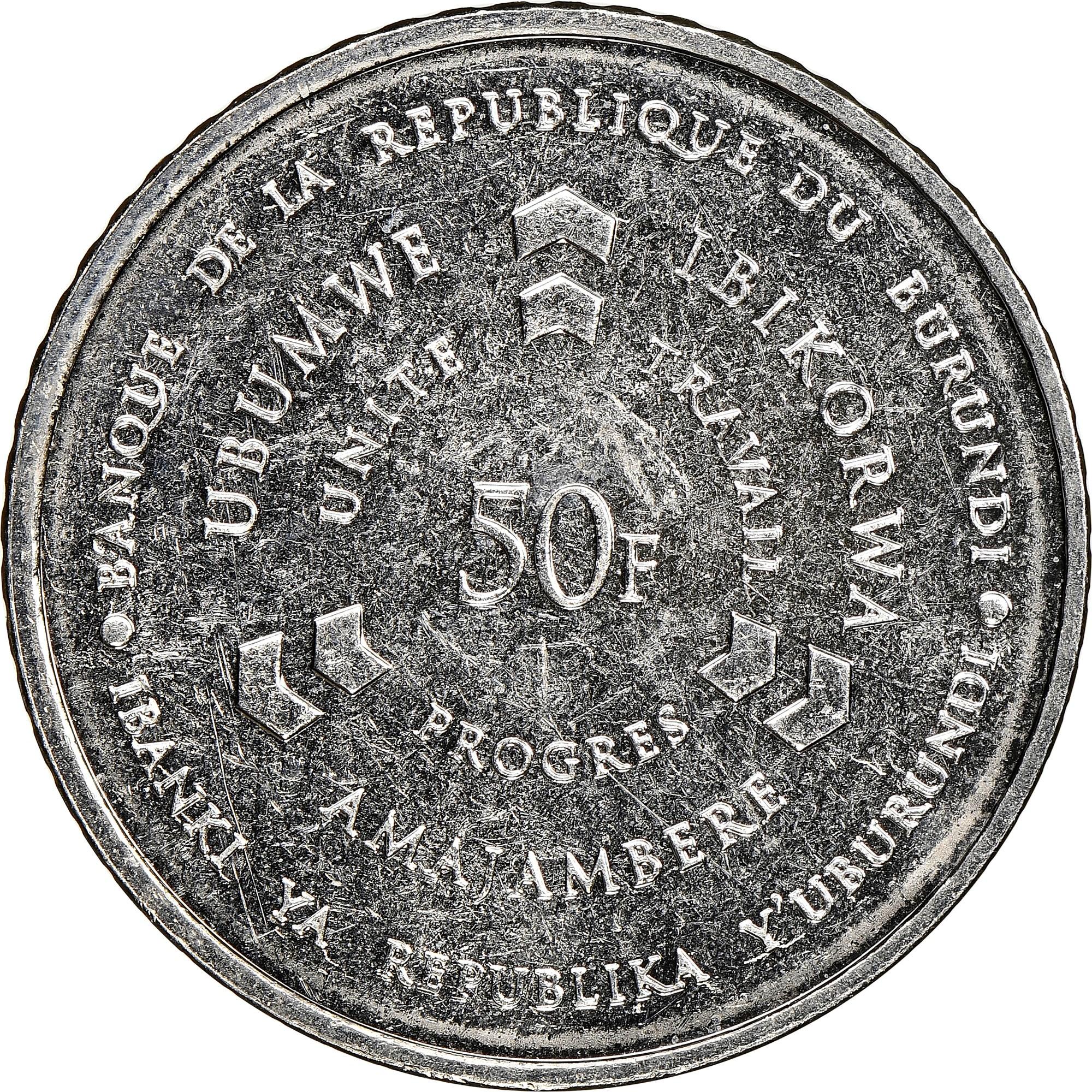 Burundi 50 Francs obverse