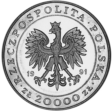 Poland 20000 ZÅ'otych obverse