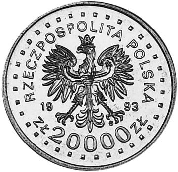 Poland 20000 Złotych obverse