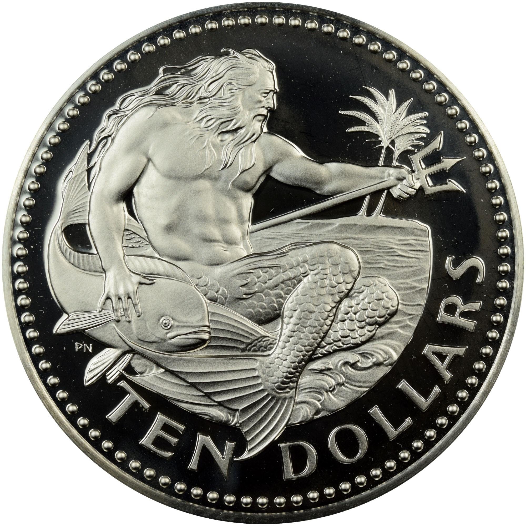 Barbados 10 Dollars reverse
