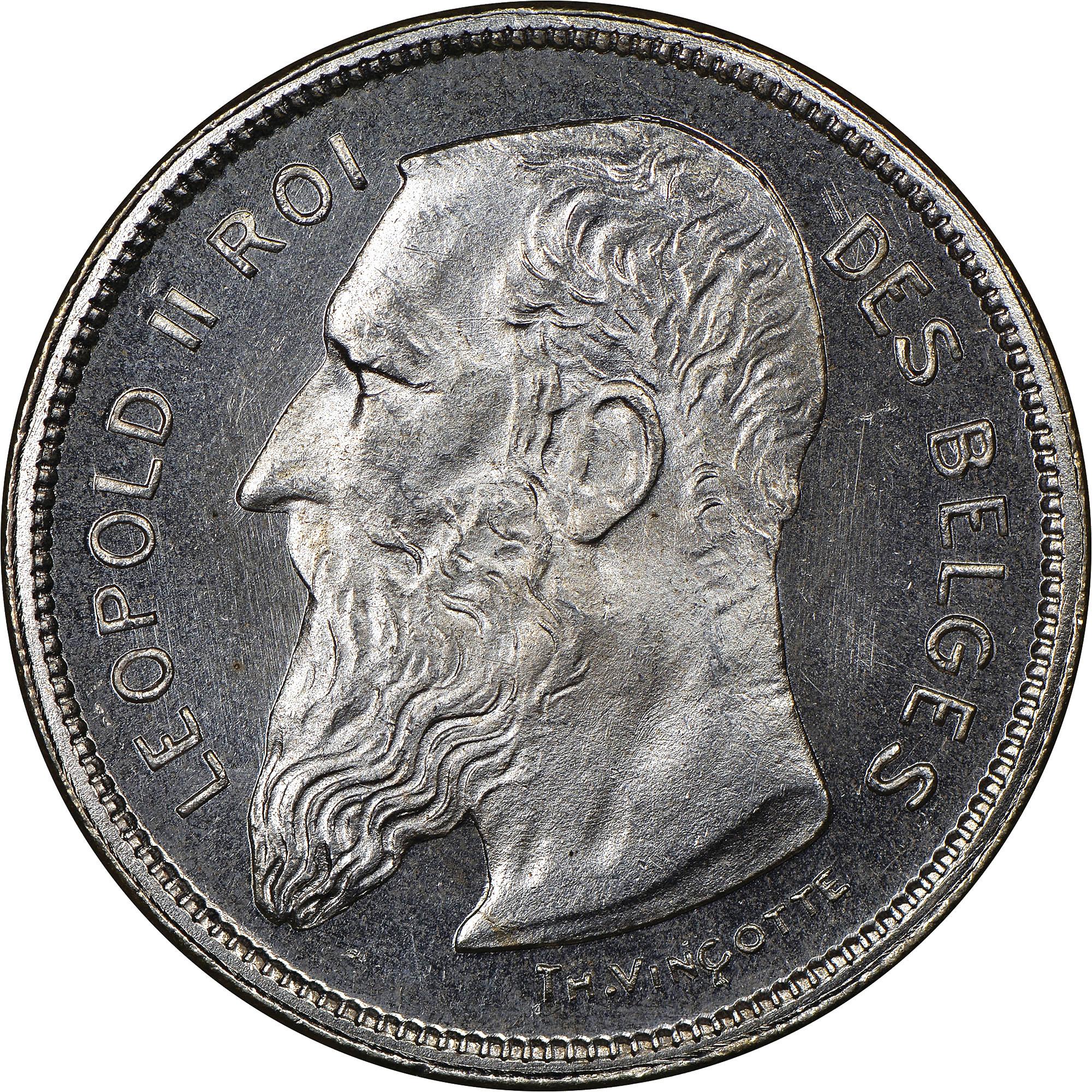 Belgium 2 Francs obverse