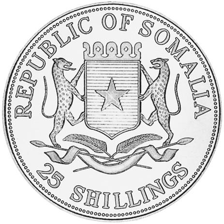 Somalia 25 Shillings obverse