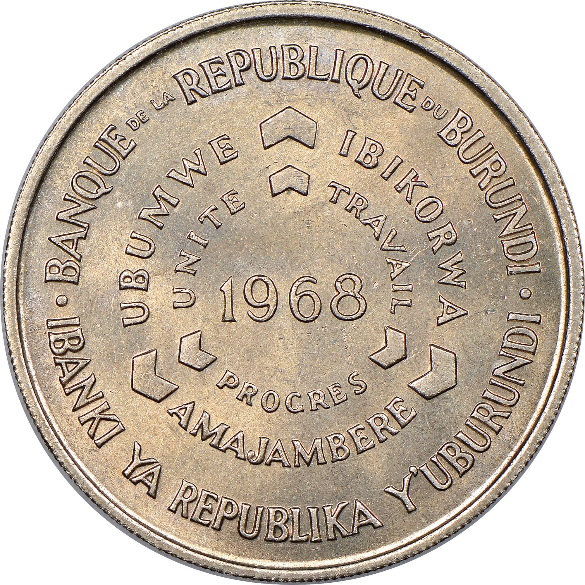 Burundi 10 Francs obverse