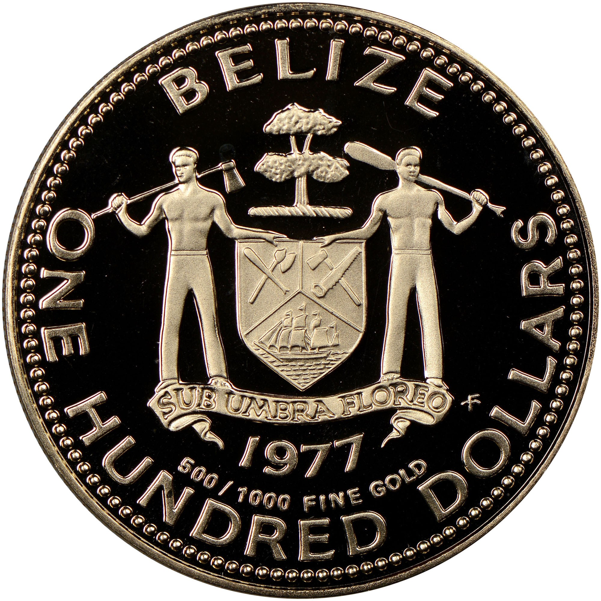 Belize 100 Dollars KM 53 Prices & Values | NGC