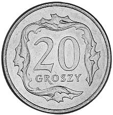 Poland 20 Groszy reverse