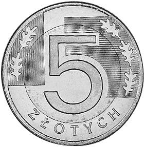 Poland 5 Złotych reverse