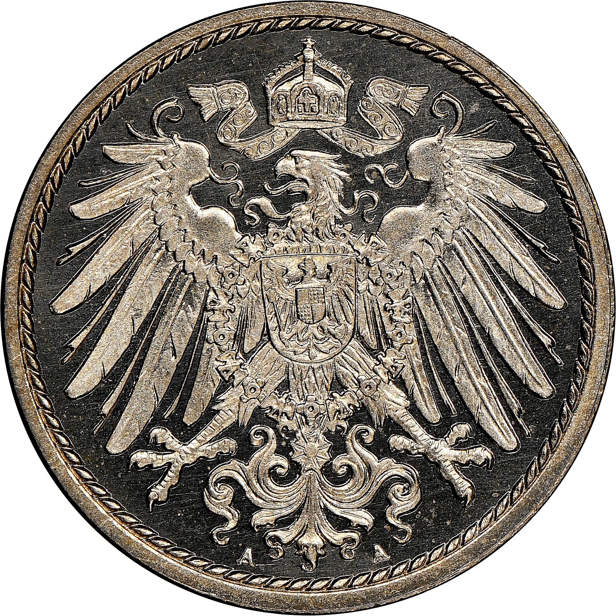 Germany - Empire 5 Pfennig reverse