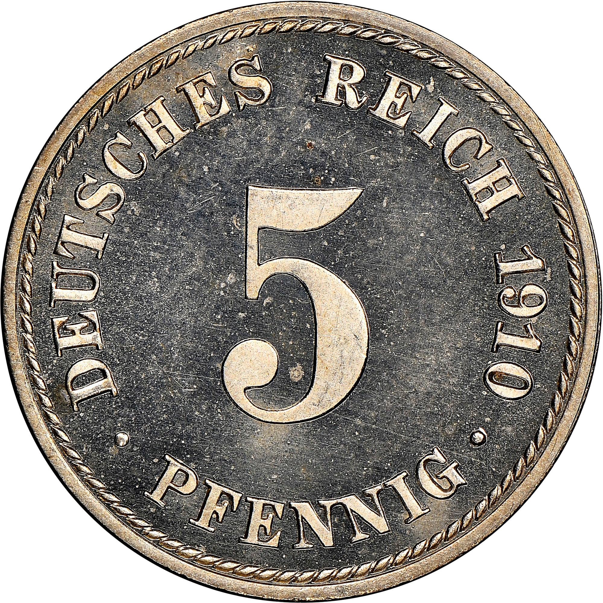Germany - Empire 5 Pfennig obverse