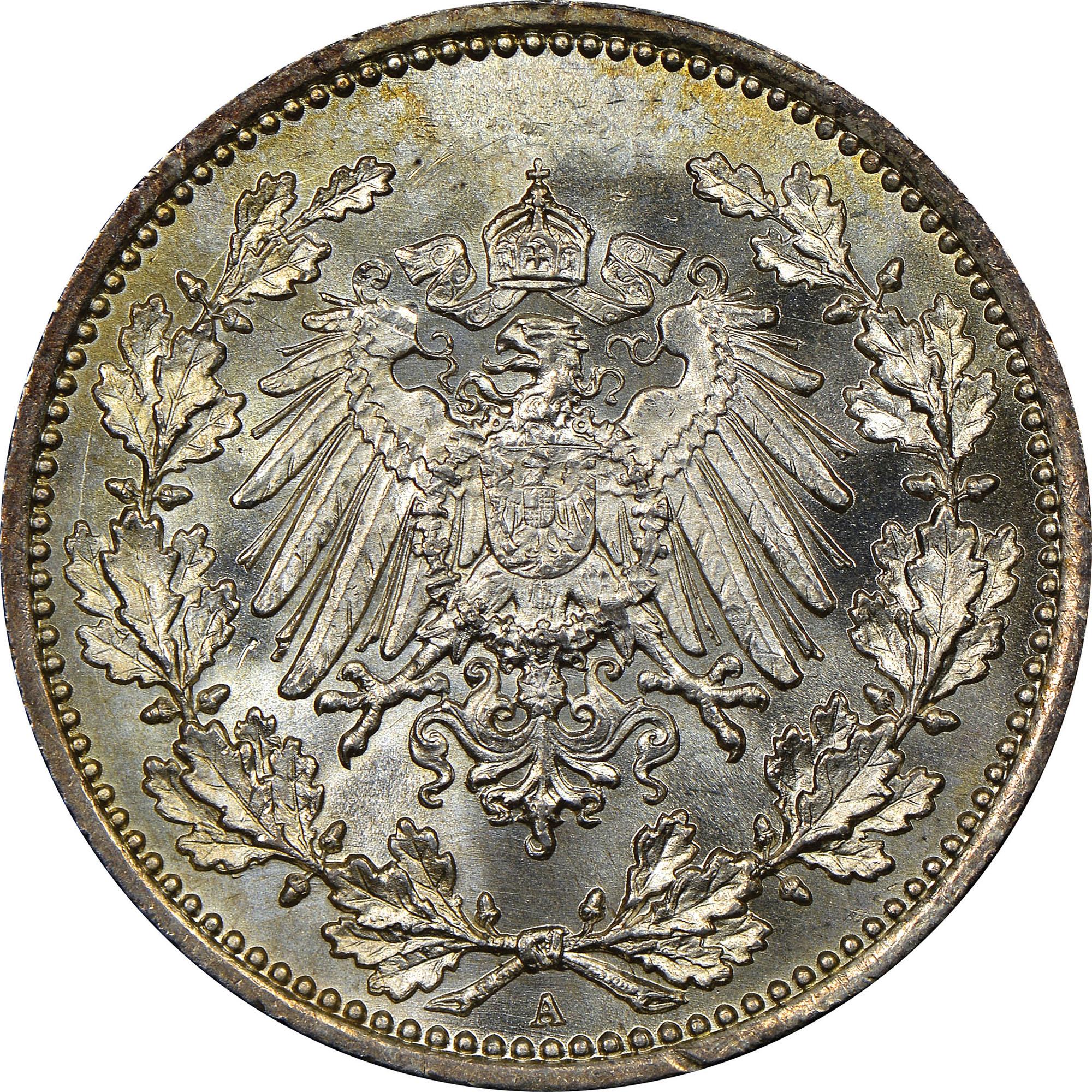Germany - Empire 50 Pfennig reverse
