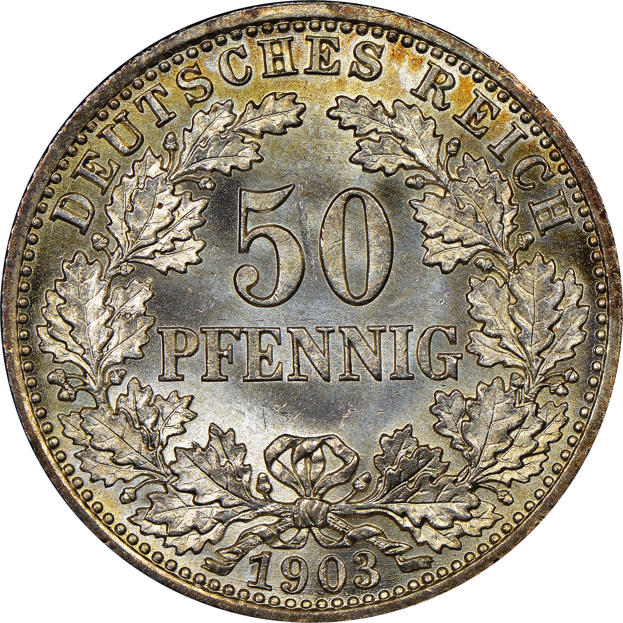 Germany - Empire 50 Pfennig obverse