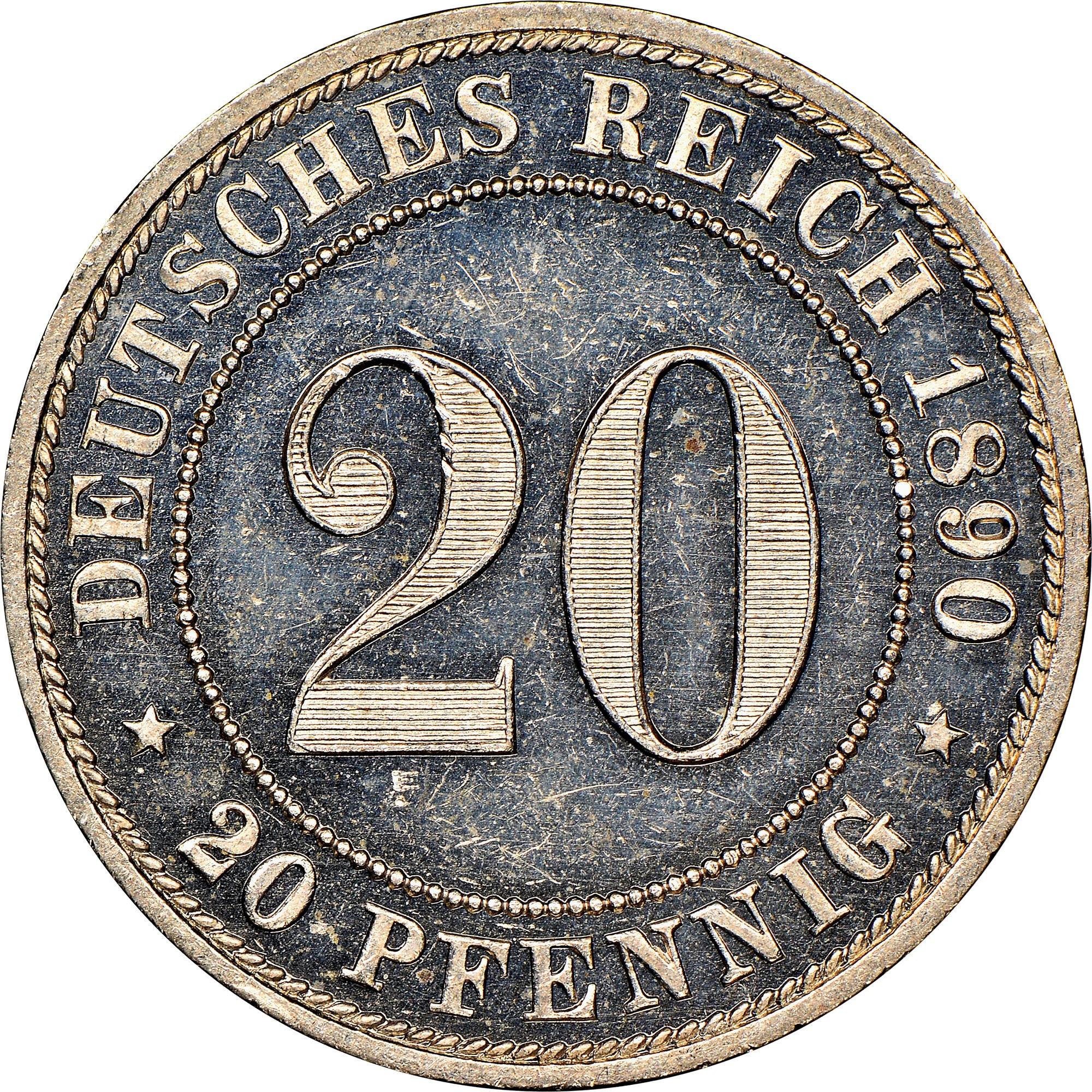 Germany - Empire 20 Pfennig reverse