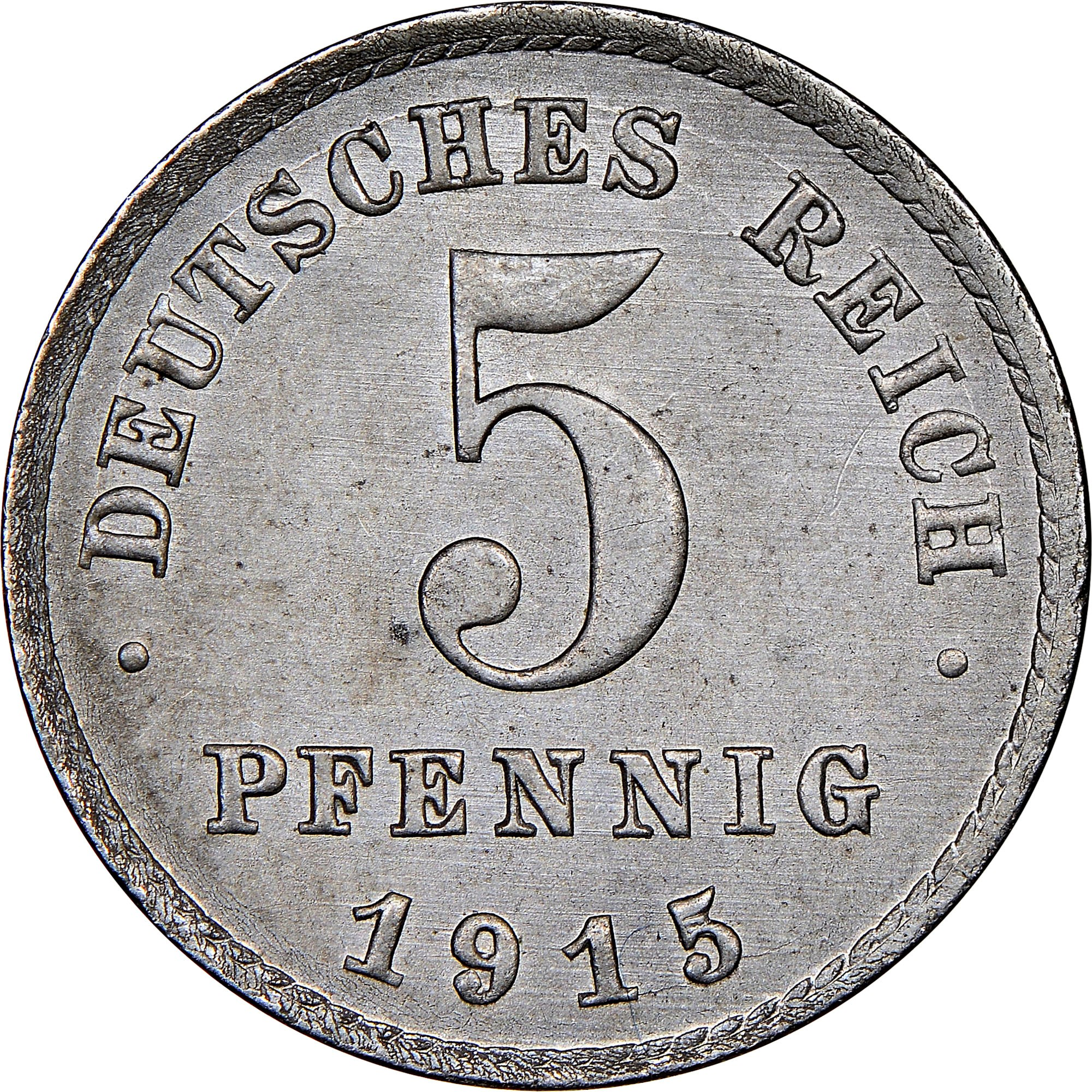 1911-G Germany 5 Pfennig Circulated 1 Coin Only 5 Available