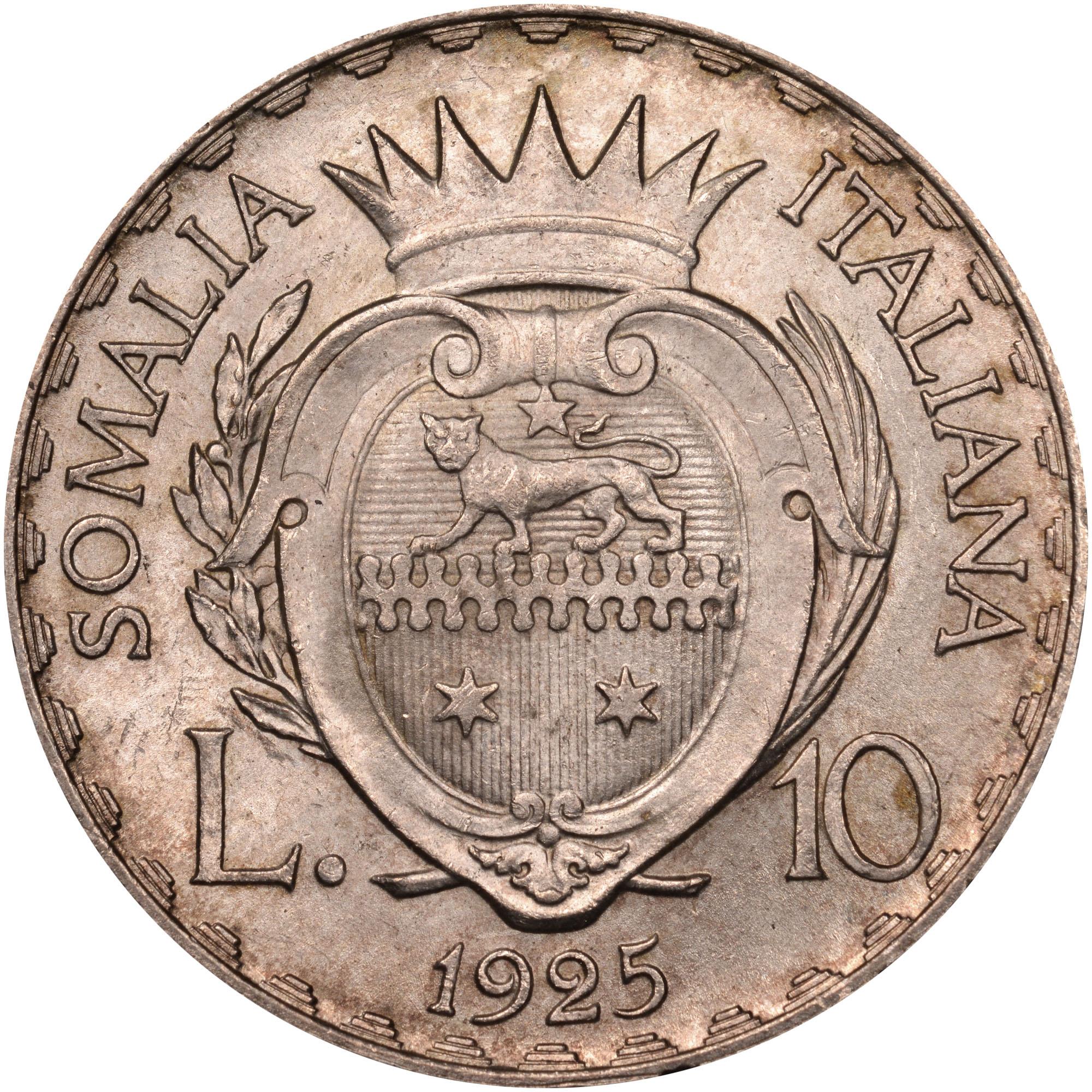 Italian Somaliland 5 Lire reverse