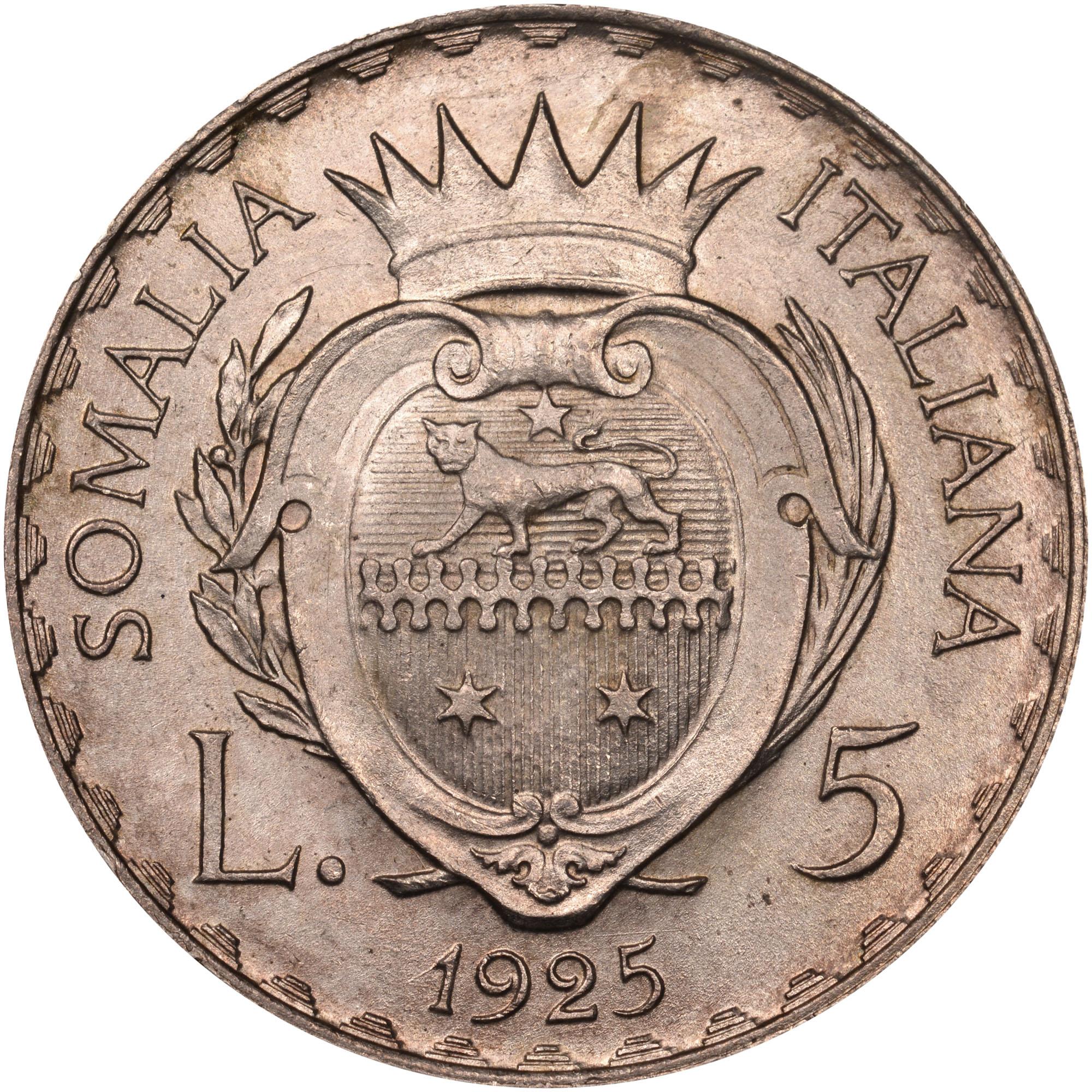 Italian Somaliland 10 Lire reverse