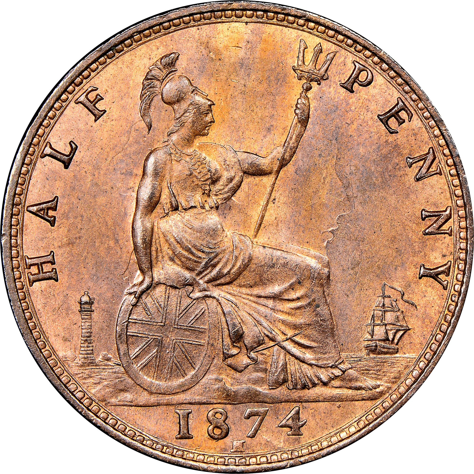 Great Britain 1/2 Penny reverse