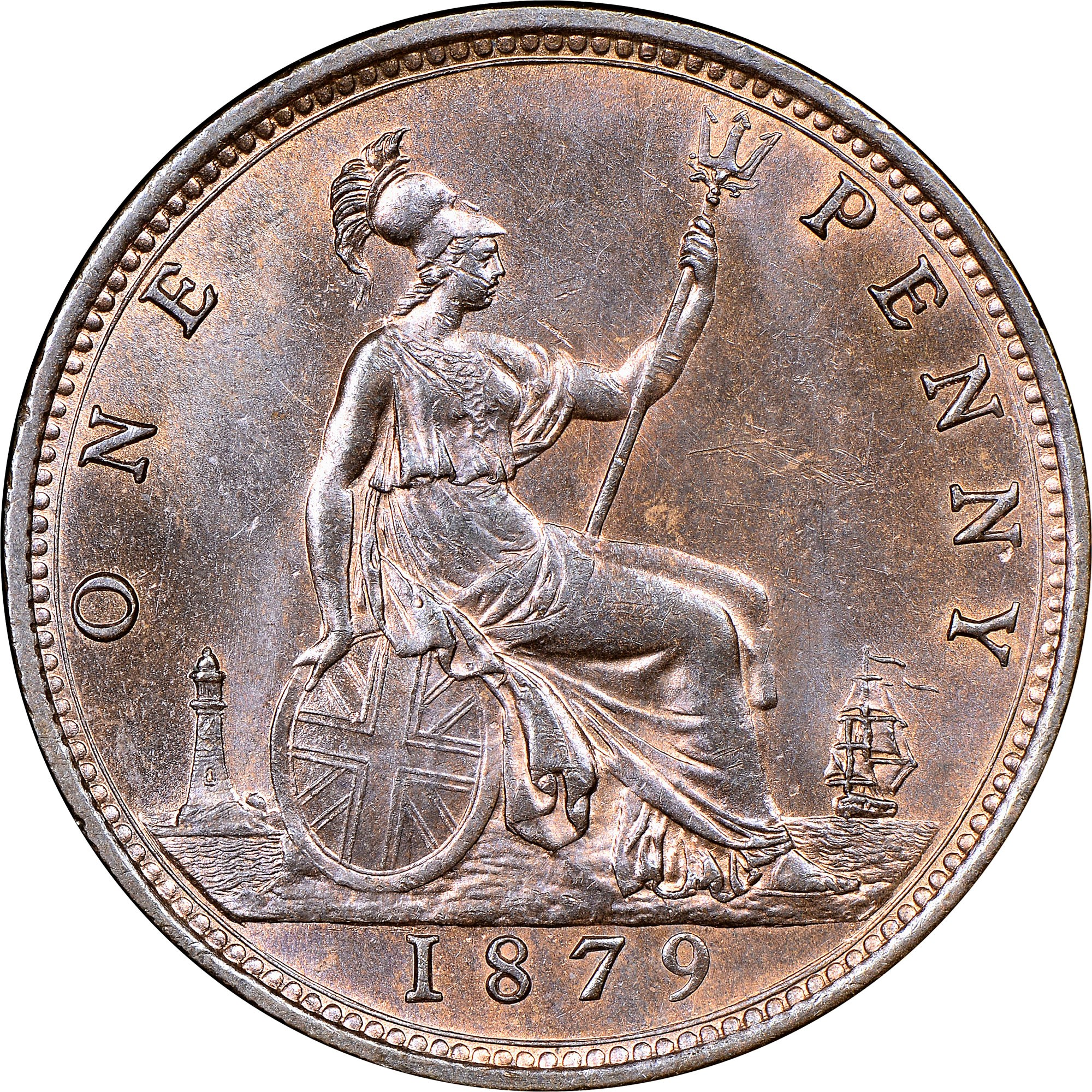 Great Britain Penny reverse