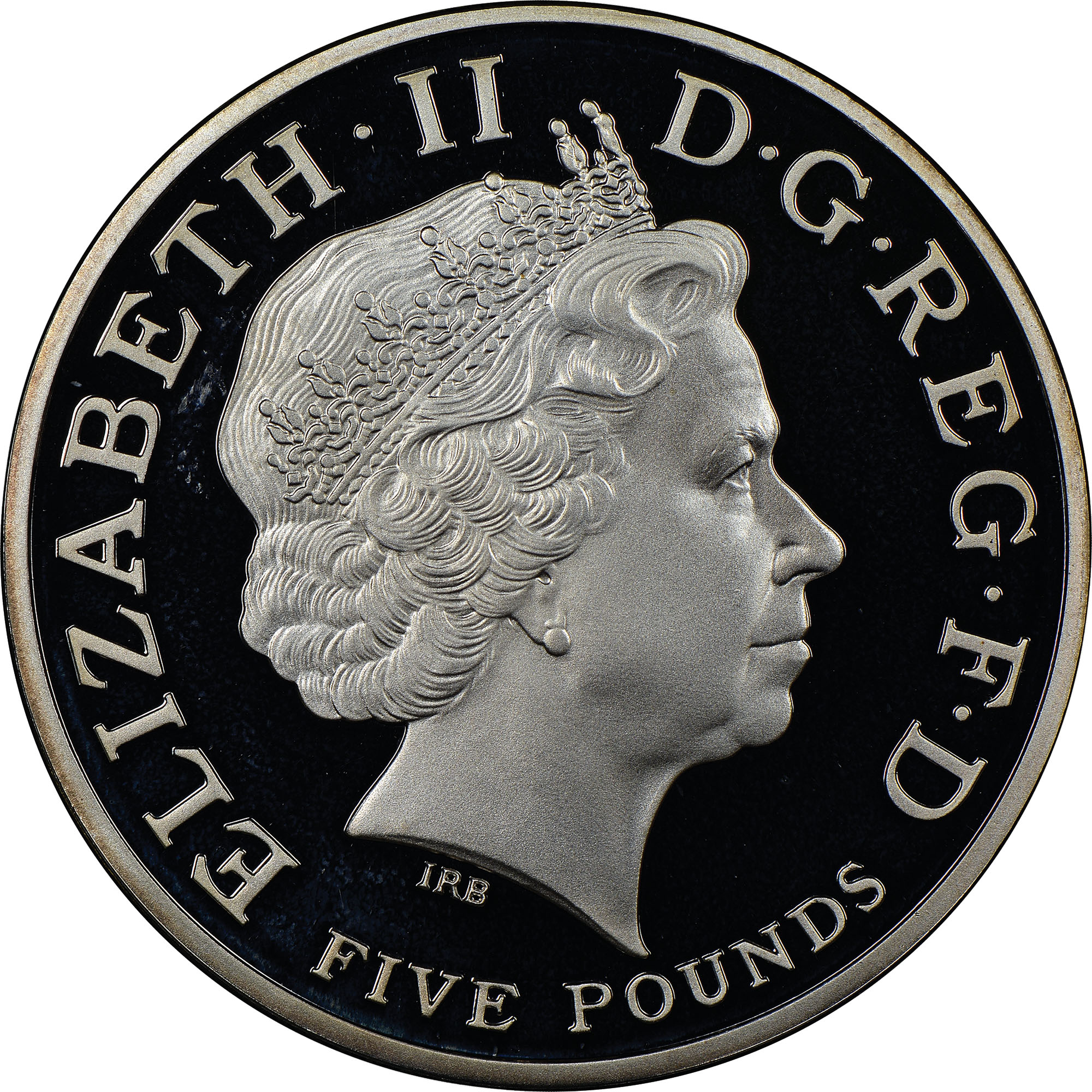 Great Britain 5 Pounds obverse