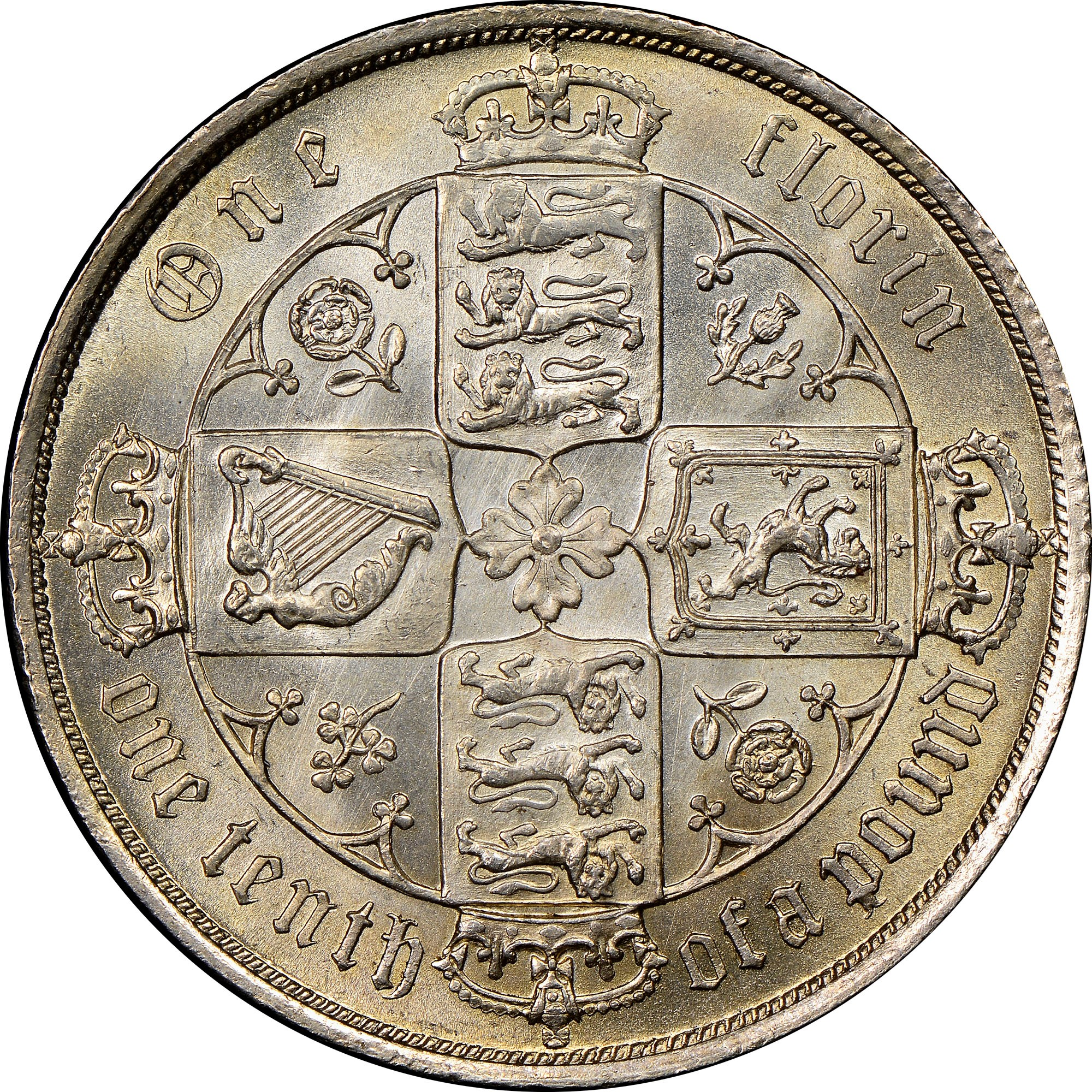 Great Britain Florin KM 746 4 Prices & Values | NGC