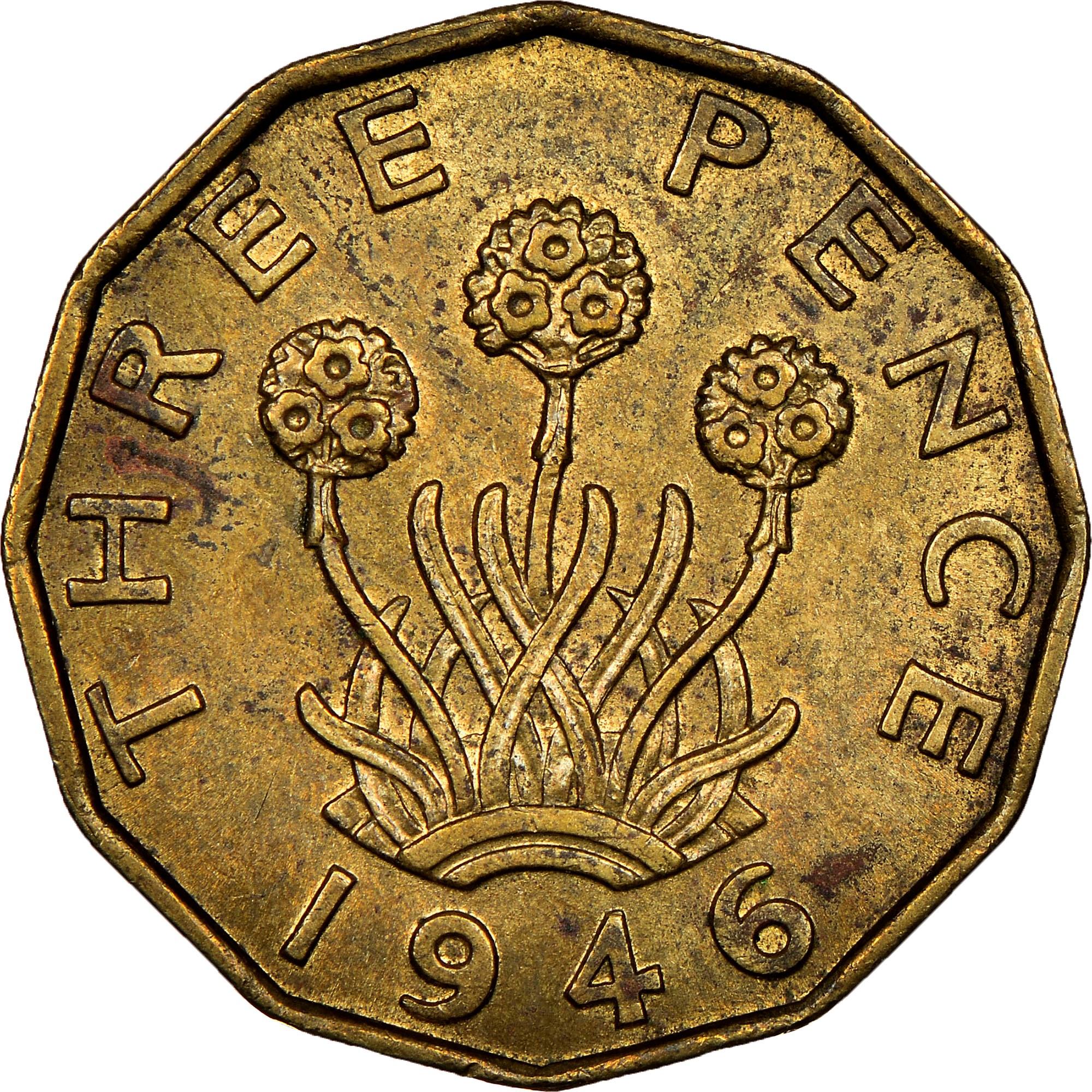 Great Britain 3 Pence reverse