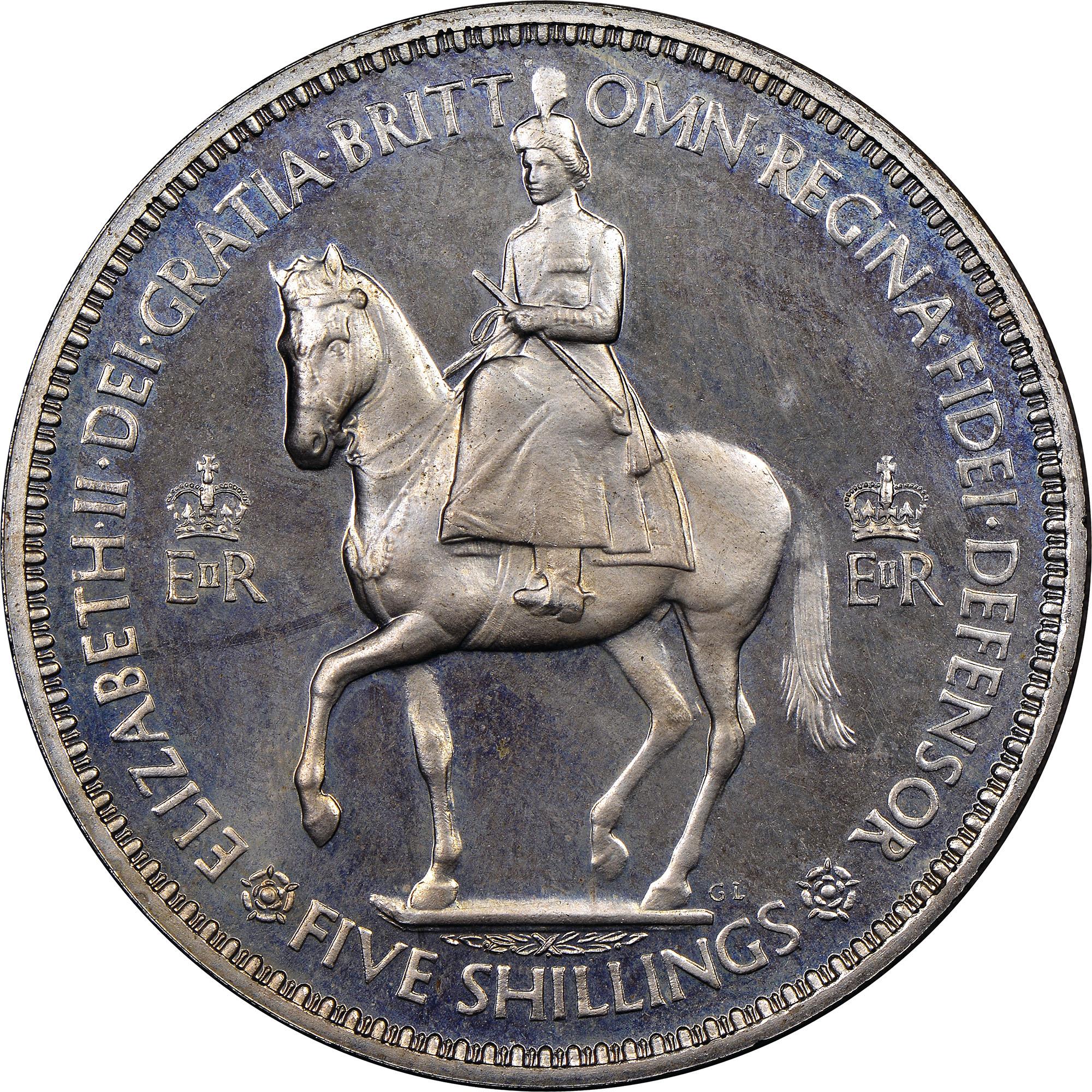 UNC GREAT BRITAIN ELIZABETH II 1953 CORONATION CROWN