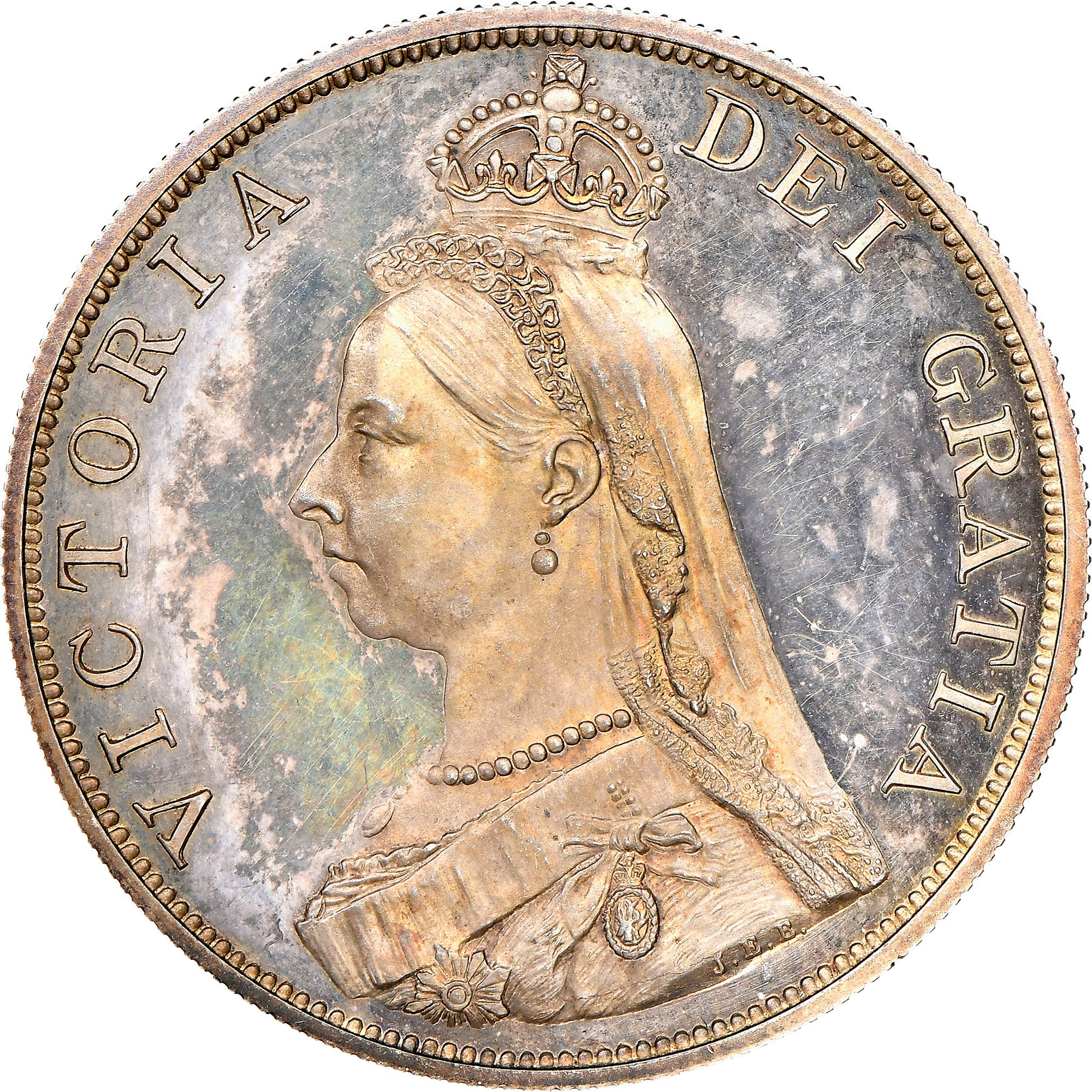 Great Britain Double Florin obverse