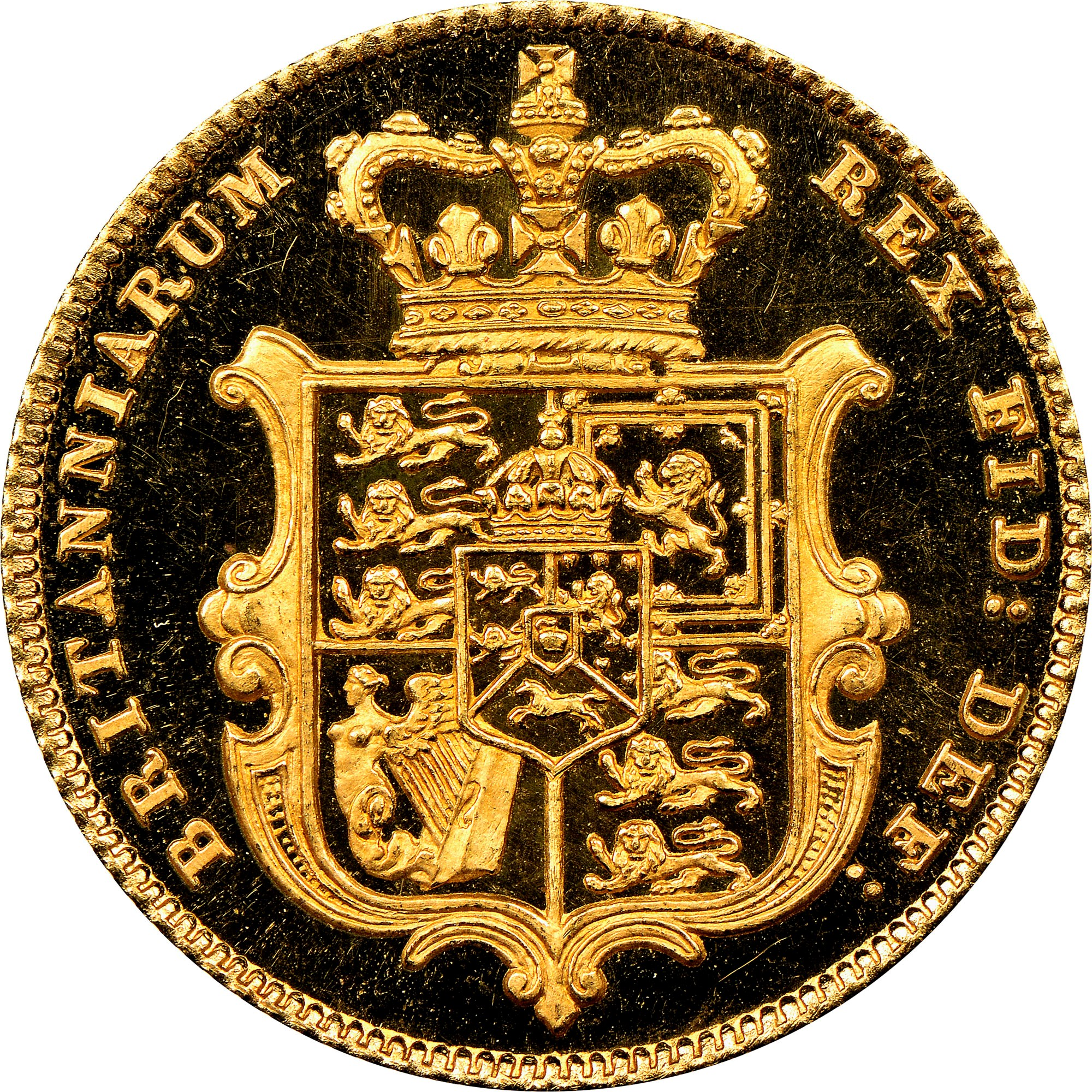 Great Britain 1/2 Sovereign reverse
