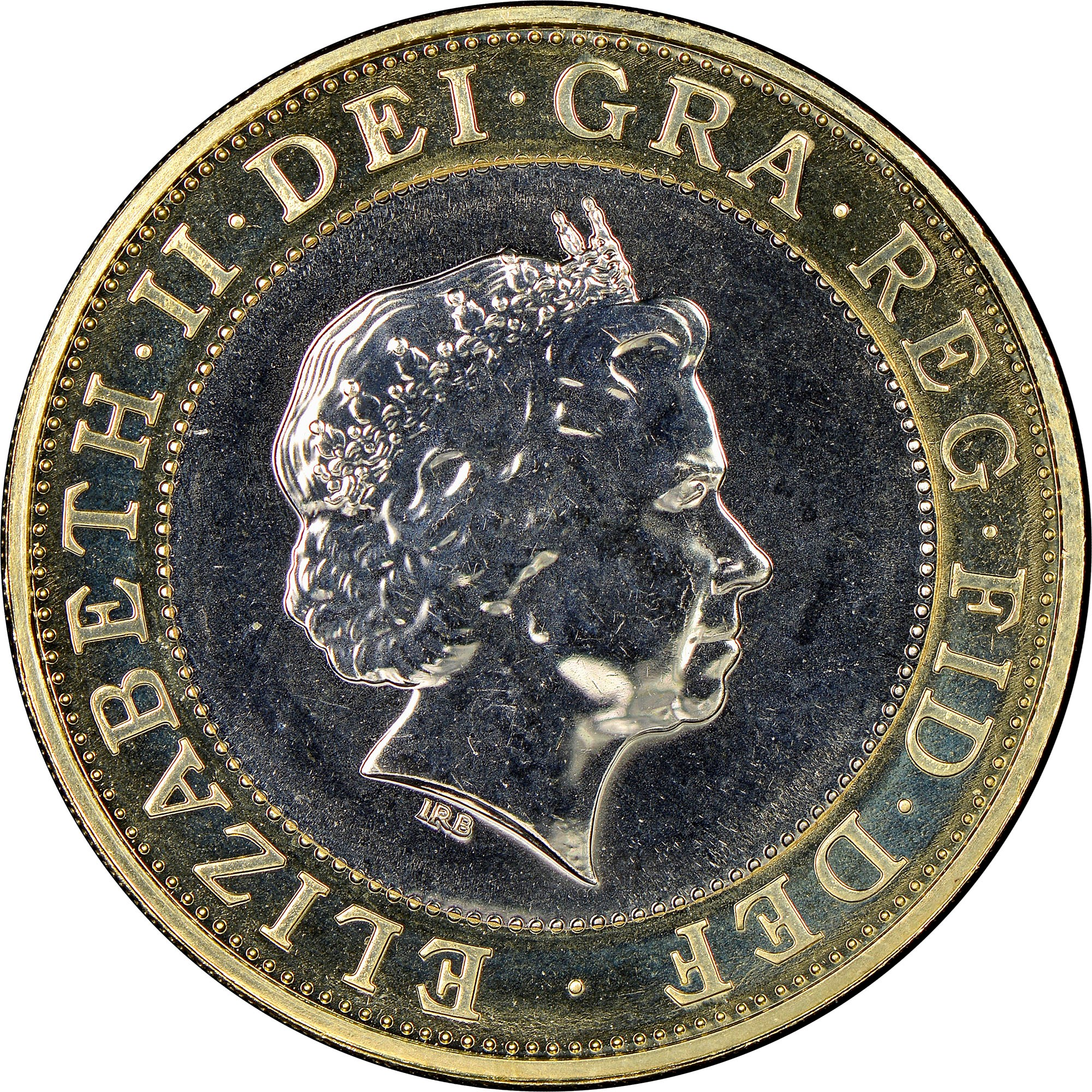 what is the weight of a 2 pound coin