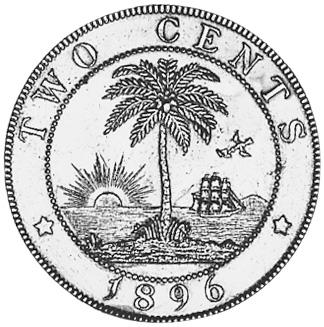Liberia 2 Cents reverse