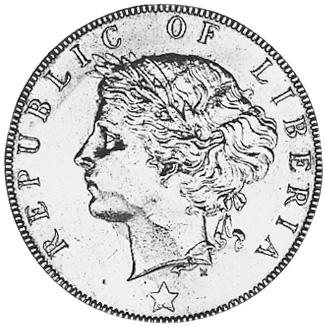 Liberia 2 Cents obverse