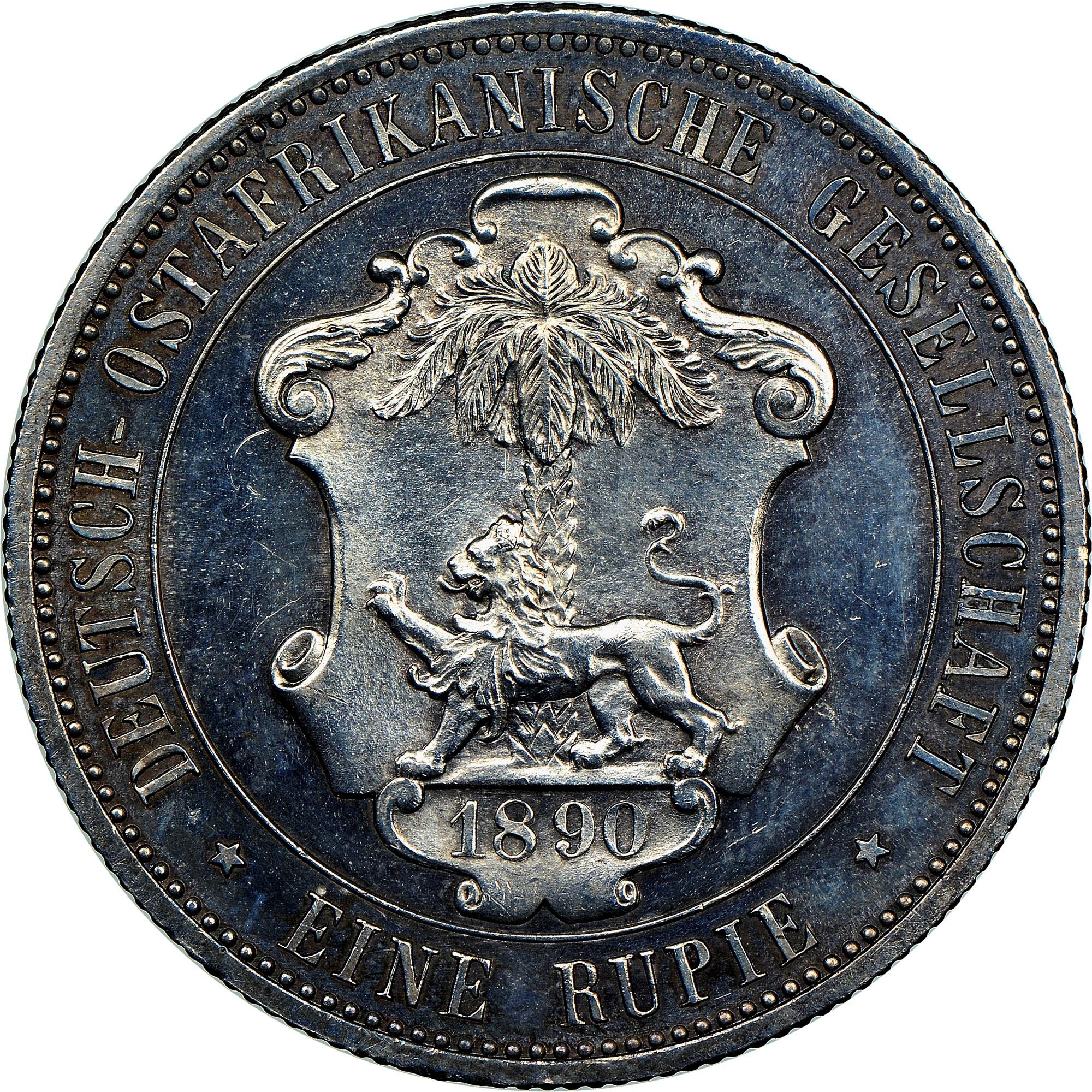 German East Africa Rupie reverse