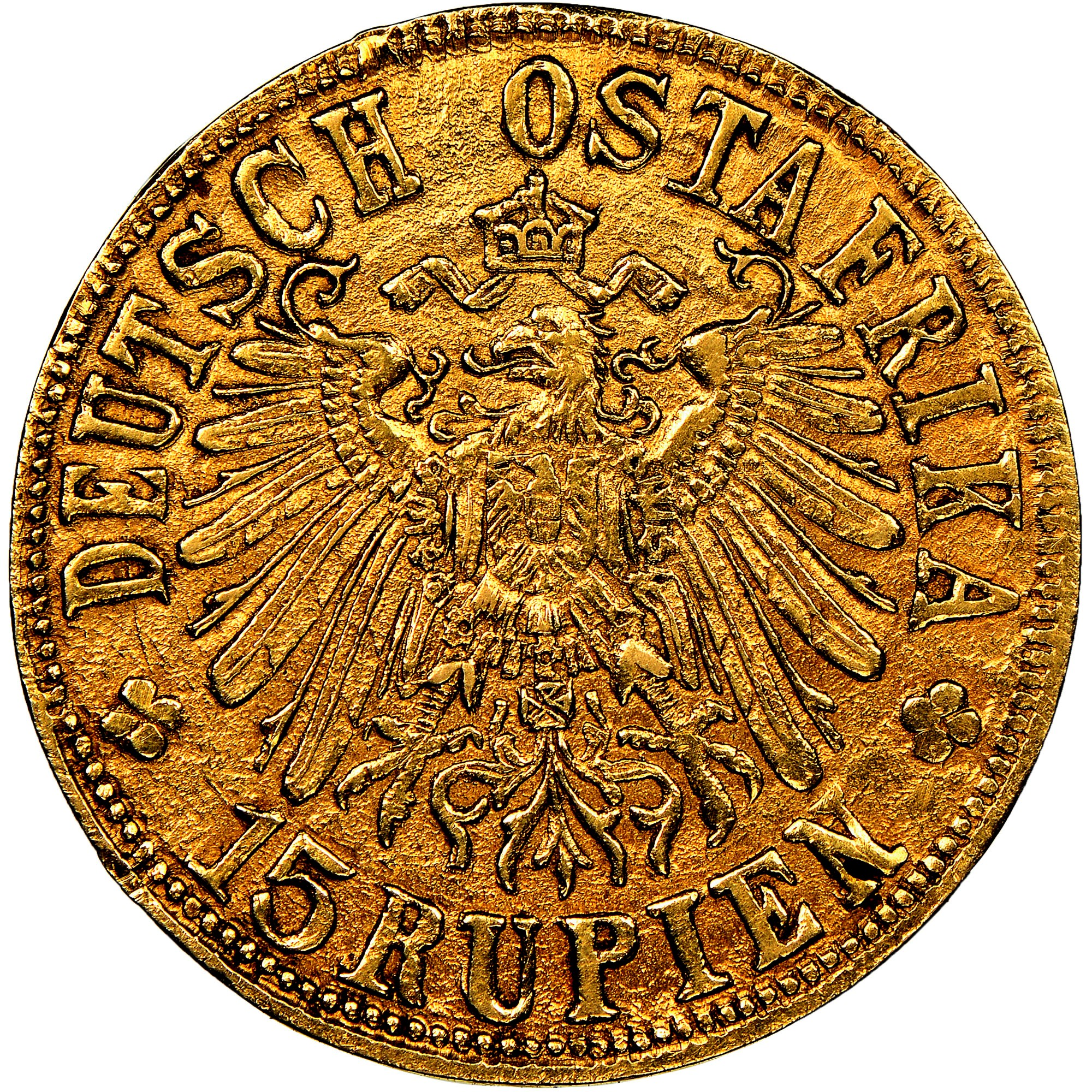 German East Africa 15 Rupien obverse