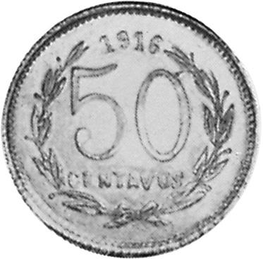 1916 Mexico-Revolutionary MORELOS 50 Centavos reverse