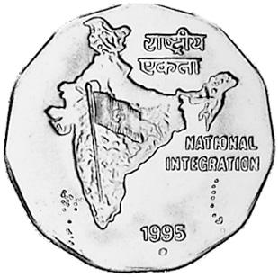 India-Republic 2 Rupees reverse