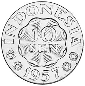 Indonesia 10 Sen obverse
